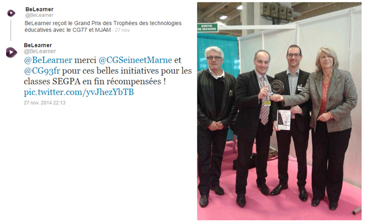 erdenet recoit trophée des Technologies Educatives