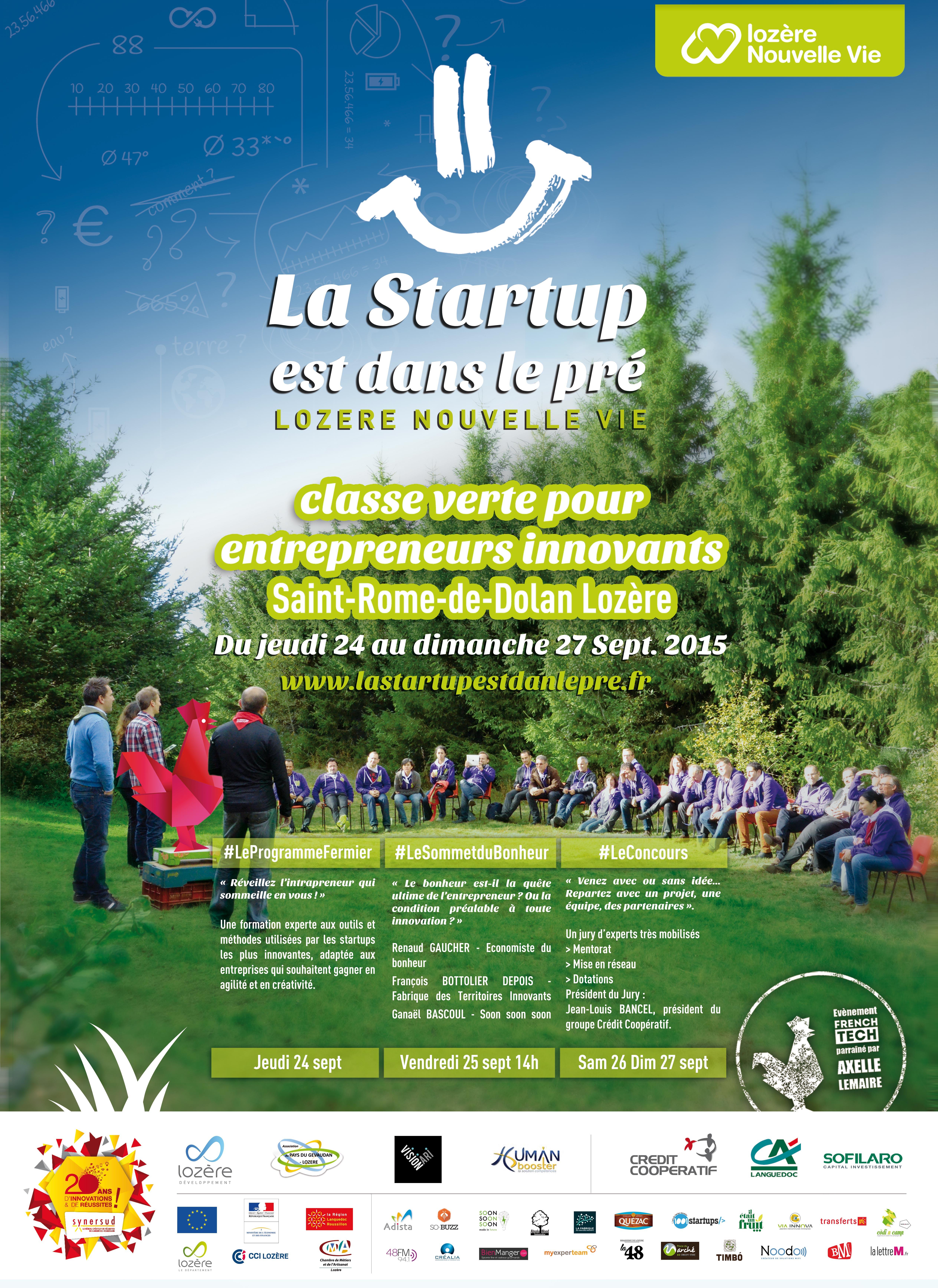 La startup est dans le pré Lozère 2015